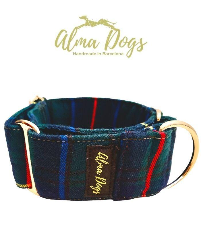 collar martingale para galgo escoces verde