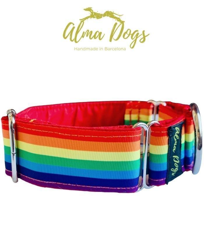 collar Martingale para galgo arcoiris